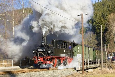 steam traction: steam train, Steinbach - J�hstadt, Germany