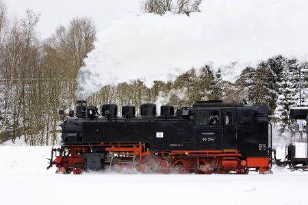 steam locomotive, Oberwiesenthal - Cranzhal (Fichtelbergbahn), Germany Stock Photo - 10546475