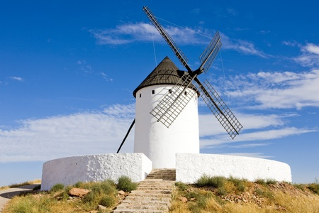windmill, Alcazar de San Juan, Castile-La Mancha, Spain Stock Photo - 10634548