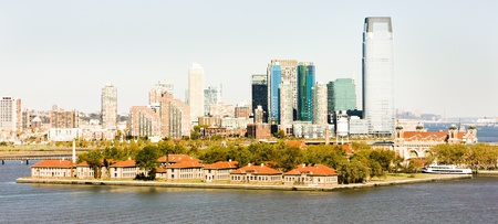 Ellis Island and New York City, USA photo