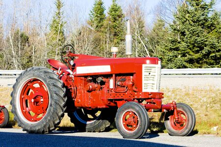 agricultural implements: tractor near Jonesboro, Maine, USA