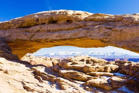 canyonlands national park: Mesa Arch, Canyonlands National Park, Utah, USA Stock Photo
