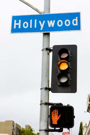 north hollywood: semaphore, Hollywood, Los Angeles, California, USA