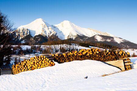tatras tatry: Belianske Tatry (Belianske Tatras) in winter, Slovakia