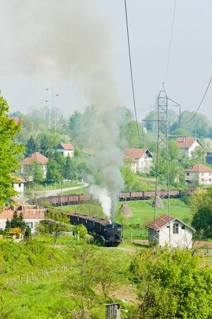 steam freight train, Durdevik, Bosnia and Hercegovina Stock Photo - 10632081