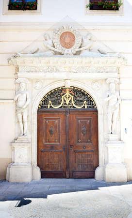 znojemsko: detail of house, Znojmo, Czech Republic Stock Photo