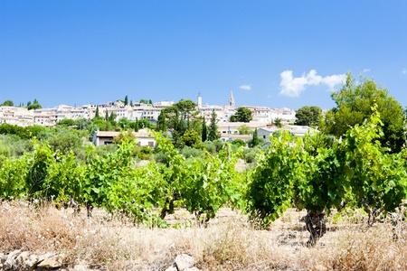 viniculture: La Cadiere dAzur with vineyards, Provence, France Stock Photo