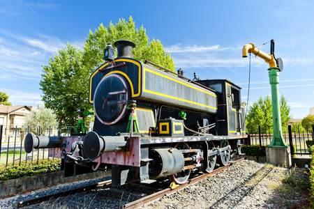 palencia province: steam locomotive, Venta de Banos, Castile and Leon, Spain