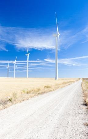 windy energy: wind turbines, Castile and Leon, Spain
