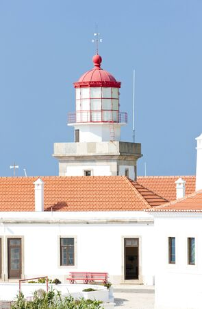 cabo: lighthouse at Cabo Mondego, Portugal Stock Photo