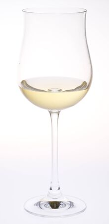 ilustrations: wineglass with white wine Stock Photo