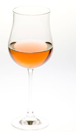 ilustrations: wineglass with ros� wine Stock Photo