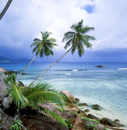 la: Anse Svere, La Digue, Seychellen Lizenzfreie Bilder