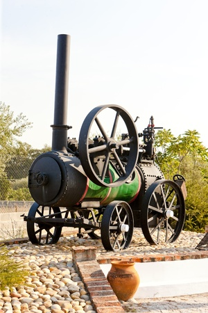 traction engine: traction engine, Carregueira, Portugal Stock Photo