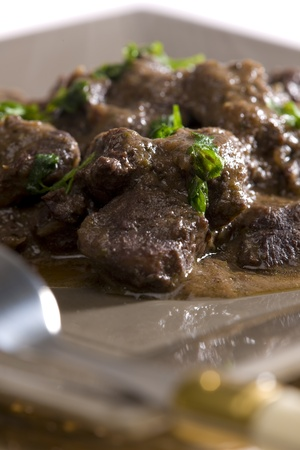 goulash: venison goulash with red wine