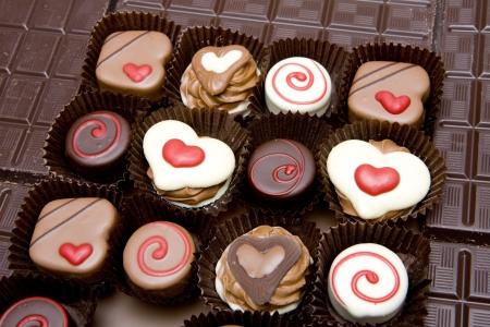 snoepjes: chocolade snoepjes Stockfoto