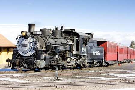 trains: Cumbres and Toltec Narrow Gauge Railroad, Antonito, Colorado, USA