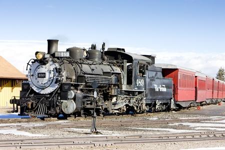 Railroad Cumbres et de Toltec Narrow Gauge, Antonito, Colorado, USA Éditoriale