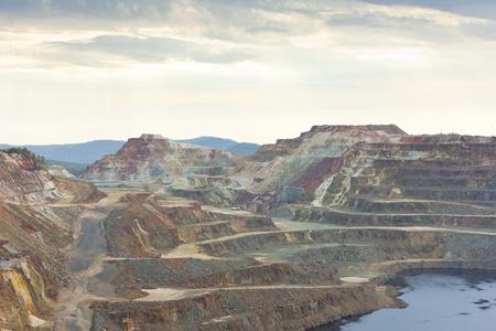Kupfermine, Minas de Riotinto, Andalusien, Spanien Standard-Bild - 11110297