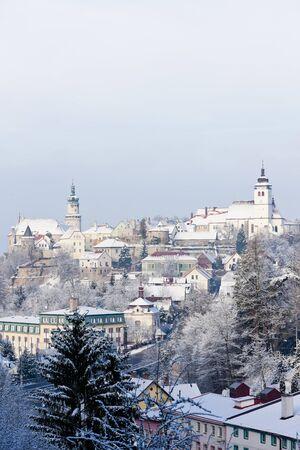 Nove Mesto nad Metuji in winter, Czech Republic