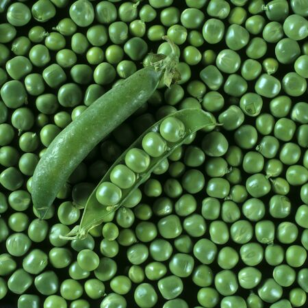 ilustrations: green peas Stock Photo