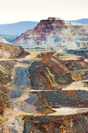 copper mine, Minas de Riotinto, Andalusia, Spain Banco de Imagens