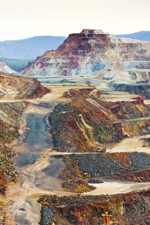 Kupfermine, Minas de Riotinto, Andalusien, Spanien Standard-Bild - 11222912