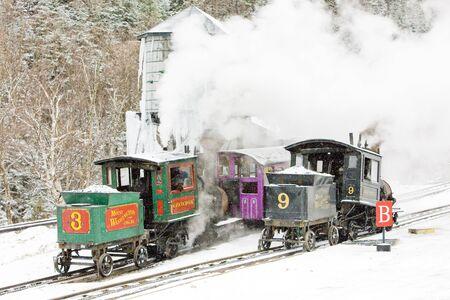 narrow gauge: Mount Washington Cog Railway, Bretton Woods, New Hampshire, USA