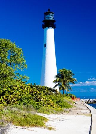 Cape Florida Lighthouse, Key Biscayne, Miami, Floride, USA Banque d'images