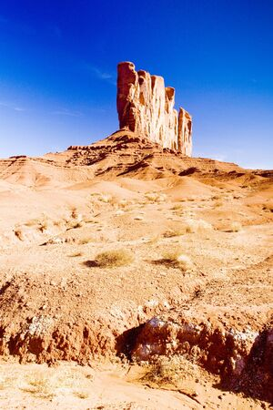 butte: Camel Butte, Monument Valley National Park, Utah-Arizona, USA Stock Photo