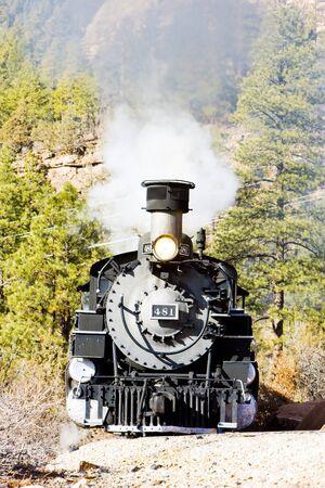 narrow gauge railroad: Durango   Silverton Narrow Gauge Railroad, Colorado, USA