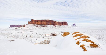 Monument Valley National Park in winter, Utah-Arizona, USA Stock Photo - 11342355