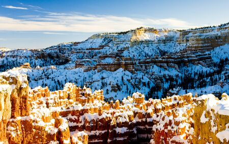 Bryce Canyon National Park in winter, Utah, USA photo