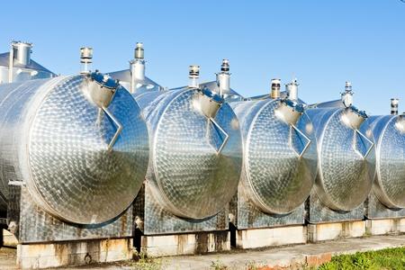 bordeaux region: fermentation tanks, Begadan, Bordeaux Region, France Editorial