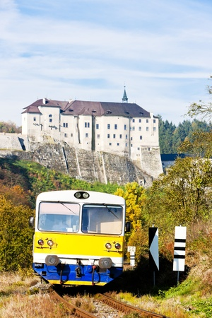 Cesky Sternberk Castle and engine carriage, Czech Republic