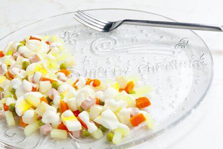 aliments: traditional Czech Christmas potato salad