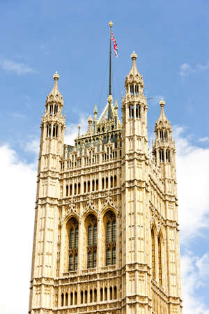 neogothic: Victoria Tower, Westminster Palace, London, Great Britain