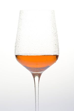 ilustrations: wineglass with rosé wine Stock Photo