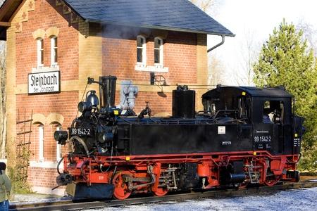 narrowgauge: steam locomotive, Steinbach - J�hstadt, Germany