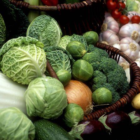 garlics: vegetables still life