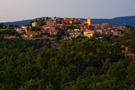 roussillon: Roussillon at night, Provence, France