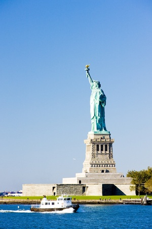Liberty Island and Statue of Liberty, New York, USA Stock Photo - 12099480