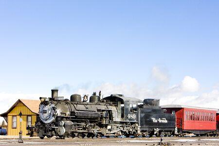 narrow gauge: Cumbres and Toltec Narrow Gauge Railroad, Antonito, Colorado, USA
