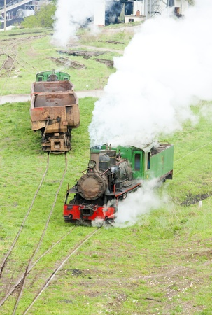 kostolac: steam locomotives, Kostolac, Serbia