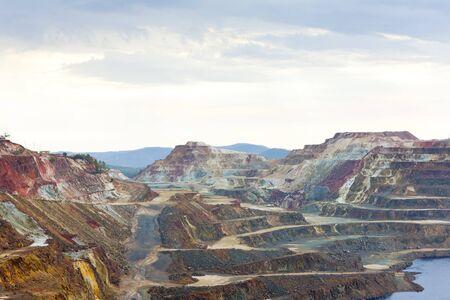 Kupfermine, Minas de Riotinto, Andalusien, Spanien Standard-Bild - 12099345