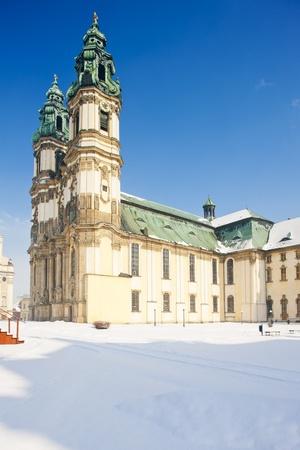 peregrinación: iglesia de peregrinaci�n en el Krzeszow, Silesia, Polonia