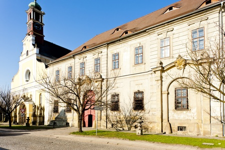 nad': monasterys church of Virgin Mary assumption and benedictine monastery, Police nad Metuji, Czech Republic