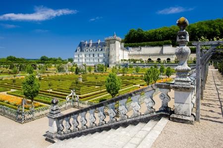 Villandry Château avec jardin, Indre-et-Loire, Centre, France