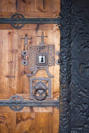 door, Hedal Stavkirke, Norway photo