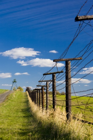 remains of iron curtain, Cizov, Czech Republic photo